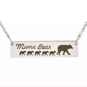 Mama Bear 5 Kids Necklace Mother's Day Gift Presen